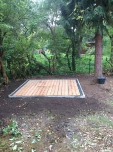 Stellplätze im Gartenbereich